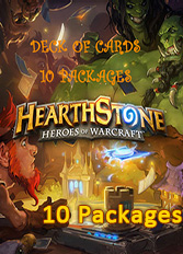 Official Hearthstone - Deck of Cards DLC - 10 Packages (PC/Mac)