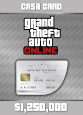Official GTA 5 Online: Great White Shark Cash Card $1.250.000 (PC)