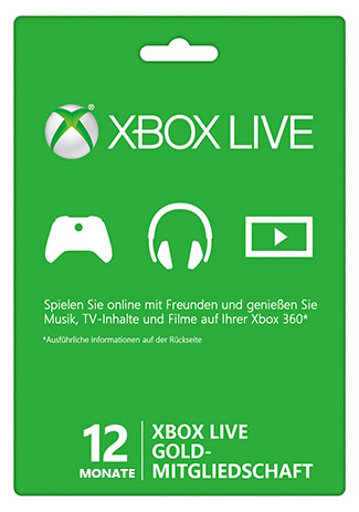 Official Xbox Live Gold – 12 Monate (Xbox 360/Xbox One/EU)