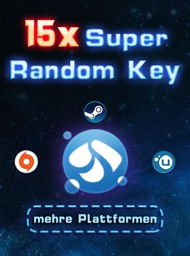 Official 15 Super Random Key (Steam, Origin, Uplay usw.)