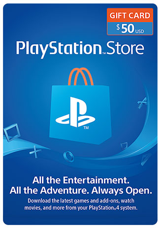 Official PlayStation Network Card - 50 Dollar (PS4/PS3/US)