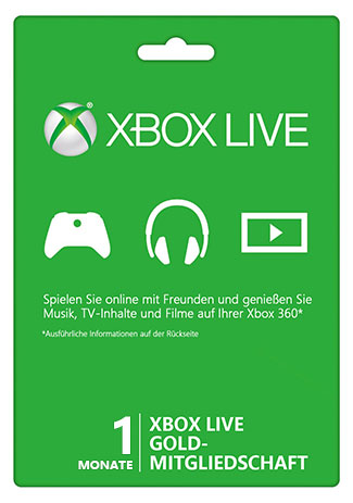 Official Xbox Live Gold – 1 Monat (Xbox 360/Xbox One/weltweit)