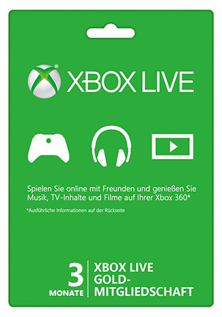 Official Xbox Live Gold 3 Monate Mitgliedschaft Card (EU)