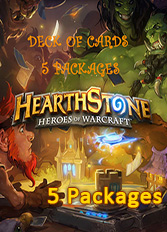 Official Hearthstone - Deck of Cards DLC - 5 Packages (PC/Mac)