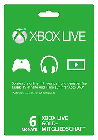 Official Xbox Live Gold – 6 Monate (Xbox 360/ Xbox One/ weltweit)