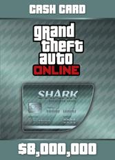 Official GTA 5 Online: Megalodon Shark Cash Card $8.000.000 (PC)