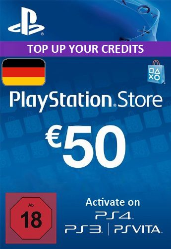 Official PlayStation Network Card - 50 Euro (PS4/PS3/DE)