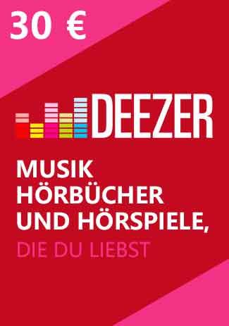 Official Deezer Guthaben - 30 Euro Code