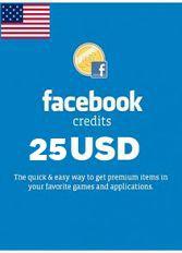 Official Facebook Guthabenkarte 25 USD