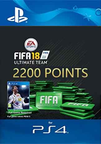 Official FIFA 18 Ultimate Team - 2200 FIFA Points (PS4 Code/DE)