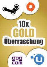 10x Gold-Überraschung (Steam, Origin, Uplay, GoG)