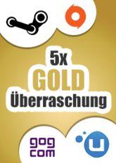 Official 5x Gold-Überraschung (Steam, Origin, Uplay, GoG)