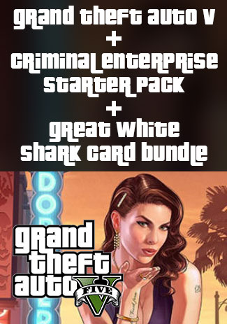 Official Grand Theft Auto V, Criminal Enterprise Starter Pack and Great White Shark Card Bundle (PC)