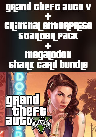 Official Grand Theft Auto V, Criminal Enterprise Starter Pack and Megalodon Shark Card Bundle (PC)