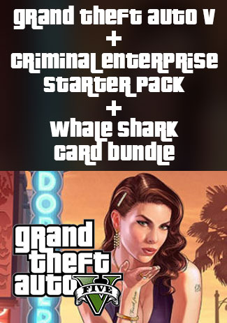 Official Grand Theft Auto V, Criminal Enterprise Starter Pack and Whale Shark Card Bundle (PC)