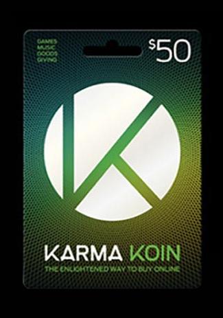 Official Karma Koin 50 Dollar Card