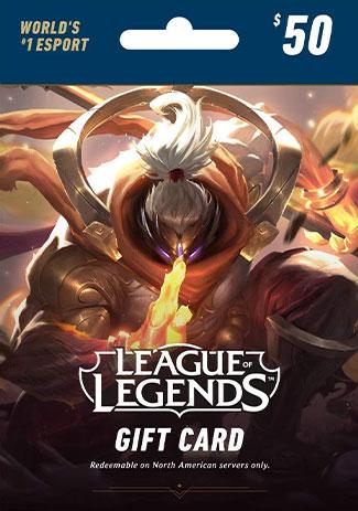 Official League Of Legends 50 USD Prepaid RP Cards US Code