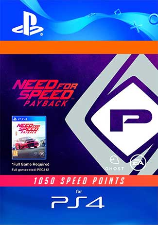 Official Need for Speed: Payback 1050 Speed Points PS4 Code
