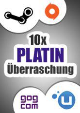 10x Platin-Überraschung (Steam, Origin, Uplay, GoG)