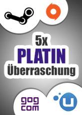 5x Platin-Überraschung (Steam, Origin, Uplay, GoG)