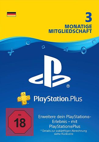 Official PlayStation Network Plus Card 90 Days DE (PS4/PS3/DE)