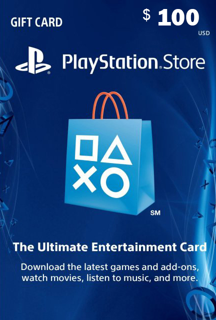 Official PlayStation Network Card - 100 Dollar (PS4/PS3/US)