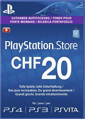 Official (CH) PlayStation Network PSN Card 20 CHF nur CH-Store