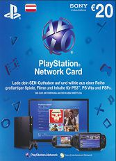 Official (AT) PlayStation Network PSN Card 20 EUR nur AT-Store