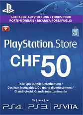 Official (CH) PlayStation Network PSN Card 50 CHF nur CH-Store