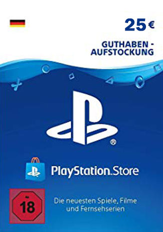 Official PlayStation Network Card - 25 Euro (PS4/PS3/DE)