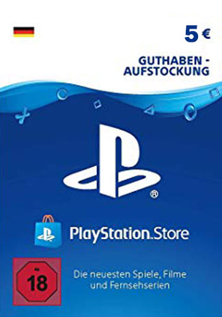 Official PlayStation Network Card - 5 Euro (PS4/PS3/DE)