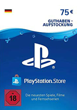 Official PlayStation Network Card - 75 Euro (PS4/PS3/DE)