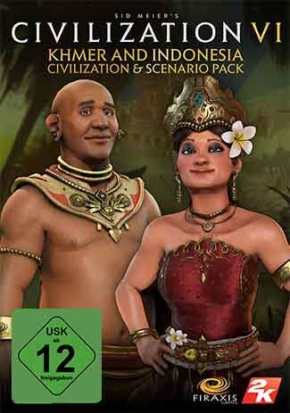 Official Civilization VI - Khmer and Indonesia Civilization & Scenario Pack DLC (PC)