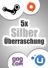 5x Silber-Überraschung (Steam, Origin, Uplay, GoG)