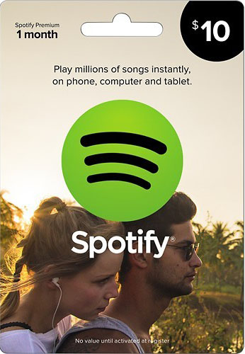Official SPOTIFY Card 10 Euro