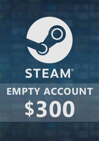 Official New Steam Account with 300 USD