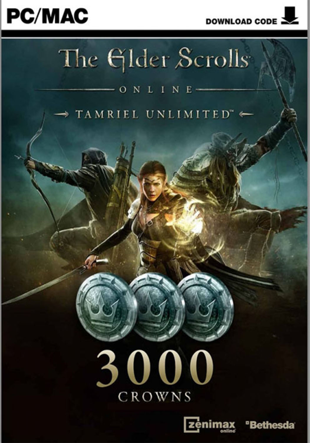 Official The Elder Scrolls Online Tamriel Unlimited 3000 Crown Pack (PC/MAC)