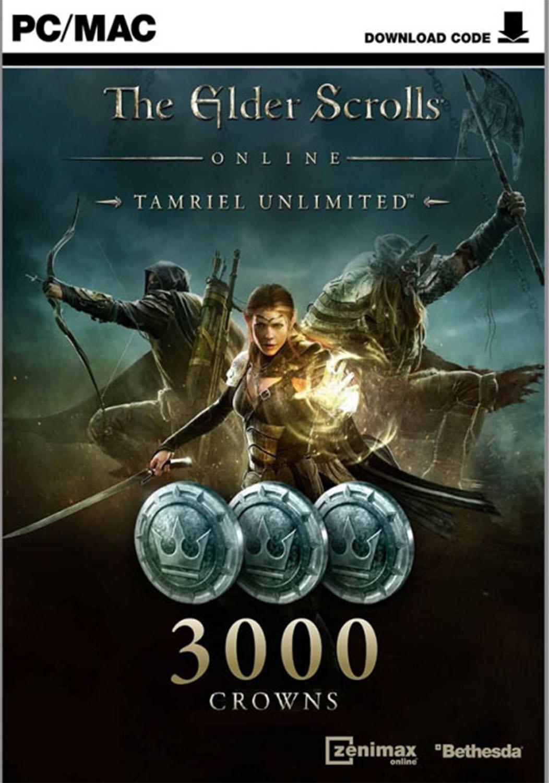 Official The Elder Scrolls Online Tamriel Unlimited 3000 Crown Pack (PC/MAC)