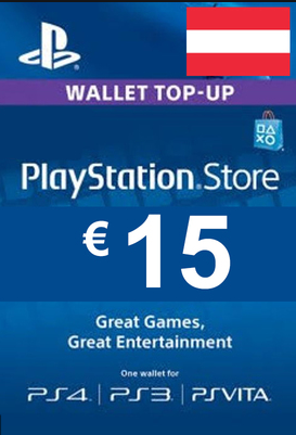 Official PSN 15 EUR (AT) - PlayStation Network Gift Card