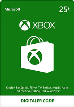 Xbox Live Guthaben -25 Euro (Xbox One/Xbox 360/Windows)
