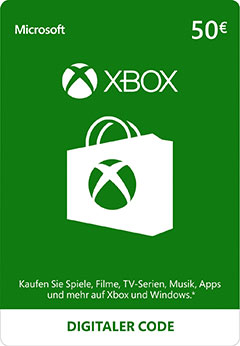 Official Xbox Live Guthaben -50 Euro (Xbox One/Xbox 360/Windows)