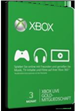 Xbox Live 3 Month Gold Membership (Xbox One/360/EU)