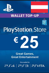 Official PSN 25 EUR (AT) - PlayStation Network Gift Card